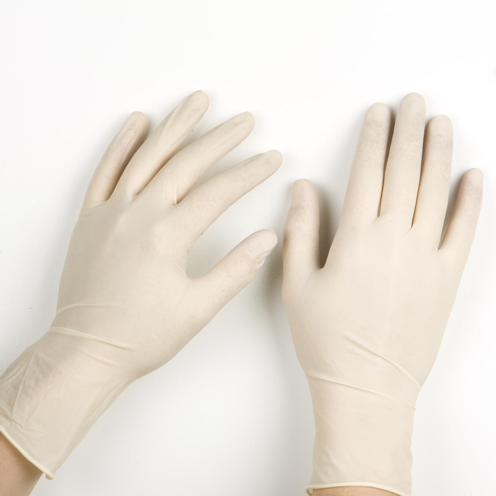 disposable latex gloves:
